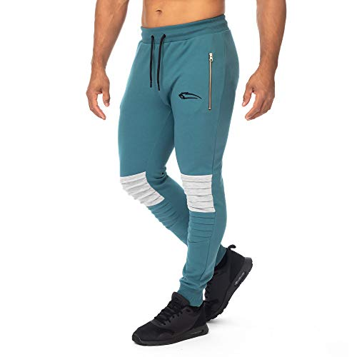SMILODOX Herren Jogginghose Herren 'Resistance'| Trainingshose für Sport Fitness Gym Training & Freizeit | Sporthose - Jogger Pants - Sweatpants Hosen - Freizeithose Lang, Größe:M, Farbe:Petrol