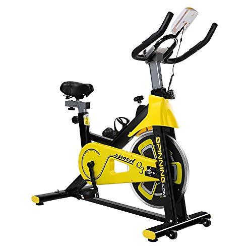 WJFXJQ Ciclismo Indoor Bicicleta estática, la Correa de accionamiento Directo 13Kg Volante, Control magnético, for el hogar Cardio del Gimnasio con comfortabe cojín del Asiento, Upright