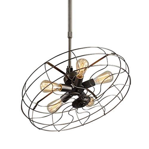 Lámparas de araña, Luces colgantes, Estilos Industriales de Iron Loft Araña Retro, Barra de restaurante Lámparas de techo Lámparas de ventilador y linternas Línea colgante Personalidad creativa Luz de