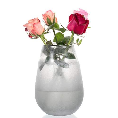 KOONNG Jarrón De Decoración del Hogar Jarrón De Vidrio De Estilo Chino Flor Europea Mesa Insertada Flor De Flor Flor Seca Lirio Botella Decorativa