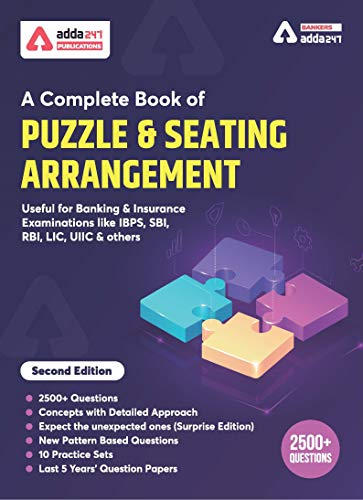 A Complete Book for Puzzles & Seating Arrangement for BANK PO | IBPS PO | SBI | RBI and other Bank Exams 2020 (English Printed Edition) by Adda247 Publications
