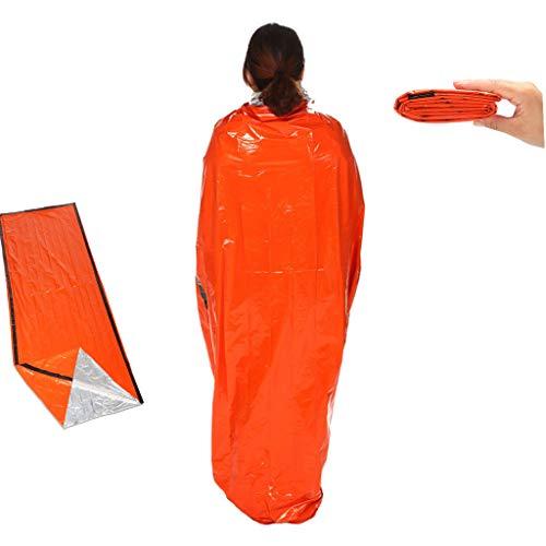 Fine Emergency Sleeping Bag Lightweight, 100% Waterproof Thermal Emergency Blanket, Outdoor, Travel, Camping, Ultra Lightweight, Compact Thermal Blanket, Reflective, Reusable (Yellow)