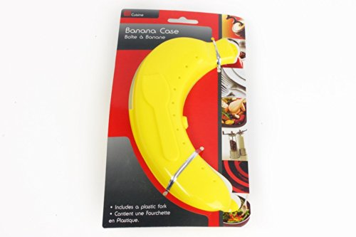 Plastic Banana Guard Protector Anti Bruising Case with Plastic Fork