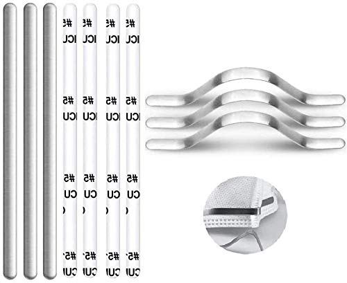 Metal Nose Strip for Masks, Aluminum Nose Strip Nose Bridge Strip for Face Masks, 90MM Adhesive Metal Strip Straps Wire for DIY Face Mask Making Accessories for Sewing Crafts (100Pcs)