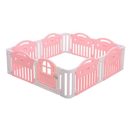 Babyplaypen Anti-Fall-Kleinkind-Crawl-Matten-Teppich Faltbare bewegliche Raumteiler Kinder Barrier erweiterbare Sicherheits Spielplatz Tor Kids Activity Center