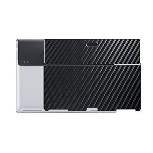 VacFun 2 Piezas Protector de pantalla Posterior, compatible con Xperia Tablet S SGPT121JP/S SGPT122JP/S SGPT123JP/S SONY, Película de Trasera de Fibra de carbono negra Skin Piel