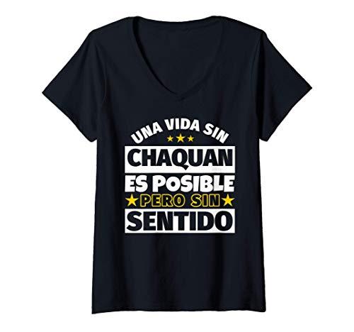 Mujer Chaquan regalo gracioso Camiseta Cuello V