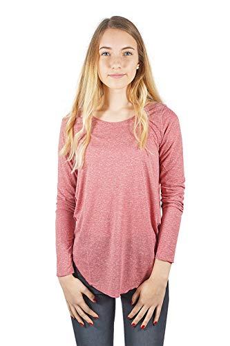 VERO MODA vmlua Damen Top Langarmshirt mit Rundhals-Ausschnitt | Longshirt o-Neck | Pullover T-Shirt Oberteil für Frauen, Größe:S, Farbe:Rosa