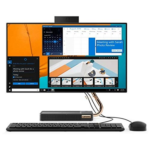 Lenovo IdeaCentre A540-24API 60,4 cm (23,8 Zoll) Full HD All in One Desktop Computer (AMD Ryzen 5 3400GE, 512GB PCIe SSD, 1TB HDD, 8GB RAM, WLAN, Webcam, AMD Radeon Vega 11 Grafik, Win 10 Home)