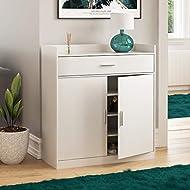 Vida Designs Dalby Modern Shoe Cabinet, 2 Door 1 Drawer, Hallway Cupboard Storage Organiser, Footwea...