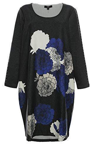 X-Two Yesta Kleid Shirtkleid Tunika Midi Lagenlook Nieten, Farbe:schwarz, Damengrößen:46