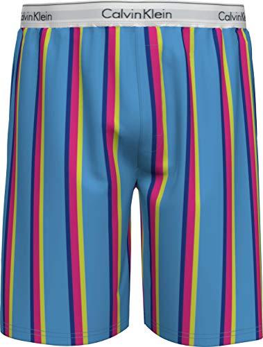 Calvin Klein Sleep Short Pantalón de Pijama, Azul, XL para Hombre
