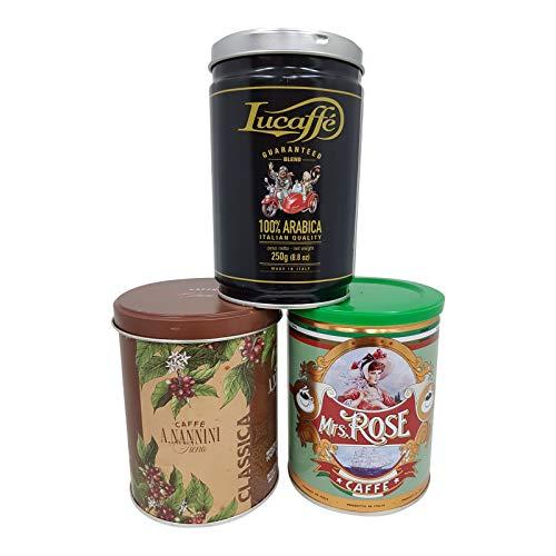 Espresso Probierset, la piccola in grani II, 3 x 250g ganze Bohne