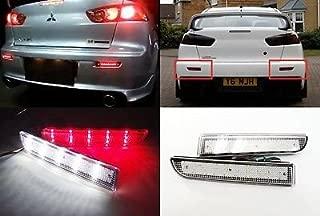 LEDIN 2x Mitsubishi Lancer CLEAR Lens Bumper Reflector LED Backup Tail Brake Light Evo