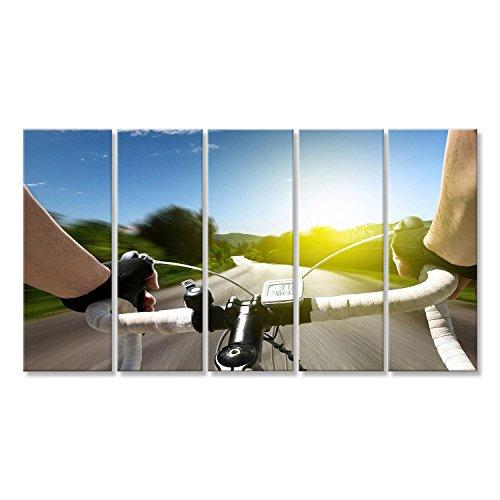 Bild Bilder auf Leinwand Rennrad Wandbild, Poster, Leinwandbild KKB