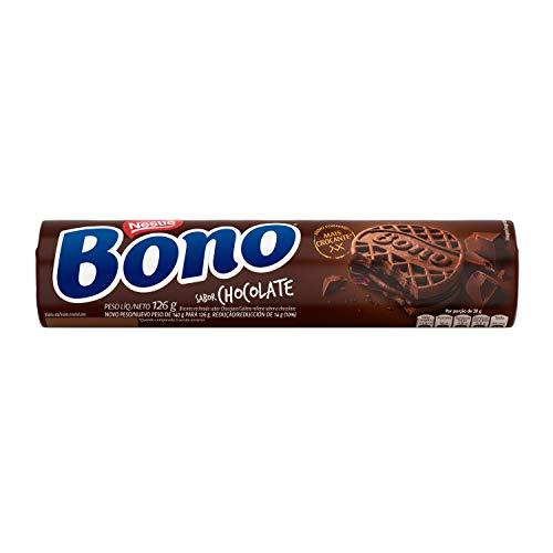 Bono Biscoito Recheado, Chocolate, 126g