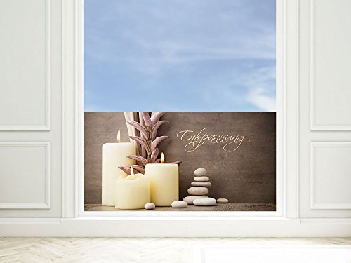 GRAZDesign raamfolie ontspanning - privacy film Wellness - plakfolie venster bruin / 220006 110x57cm bruin