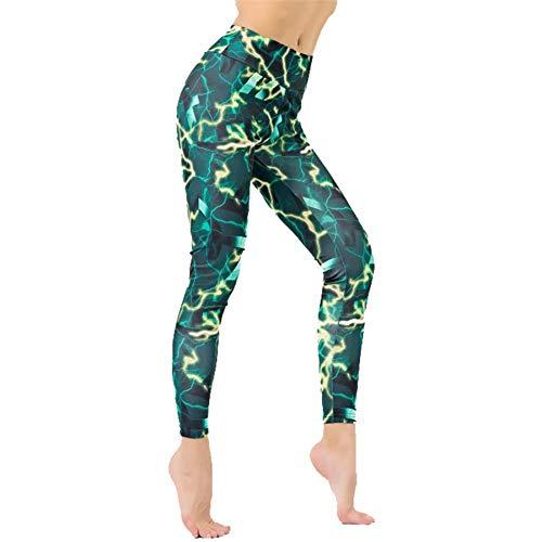 YUYOGAP yogabroek vrouwen bedrukte yogabroek vrouwen-panty met nauwe hoogte tailleband met negen punten, die sportbroek lopen