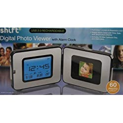 Shift3 Digital Photo Viewer with Alarm Clock