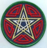 AzureGreen Celtic Pentagram Patch 3'