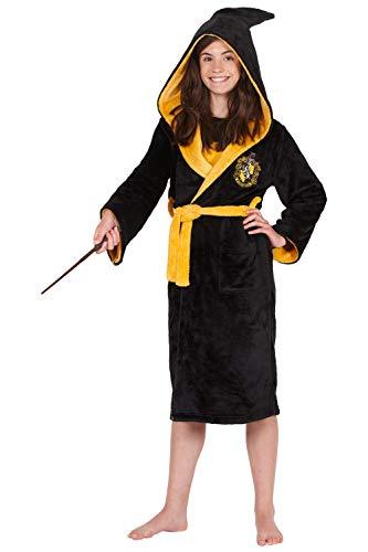 Harry Potter Costume Kids Plush Robe (Hufflepuff, Small 7/8)