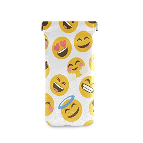 BIGJOKE Lustige niedliche Emoji-Emoticon-Sonnenbrillen-Tasche, Brillen-Tasche, Mikrofaser-Leder-Brillenhalter-Tasche für Frauen, Kinder, Mädchen, Männer