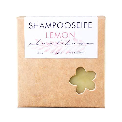 Zero Waste♻️ Shampoo-Seife-Lemon, 100% vegane Naturkosmetik Seife. Handgesiedete Naturseife. Festes Shampoo für kraftloses & strapaziertes Haar
