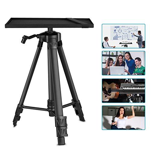 Neewer Aluminium Stativ Projektor Ständer, Verstellbarer Laptop Ständer, Computer Ständer mit Ablage und Tragetasche für Projektoren/Laptops/Fotografie/DJ Ausrüstung
