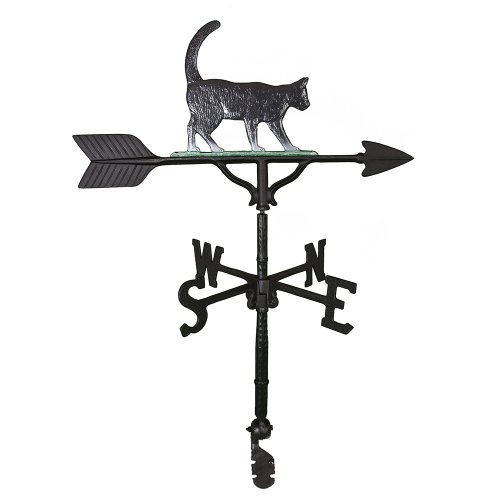 Montague Metal Products Wetterfahne mit farbigem Katze, 81 cm