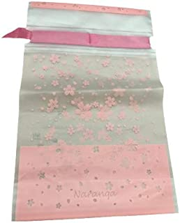 Naranqa Premium Sakura Pink Treat Bags Party Favor Bags Dessert Bags Cookie Bags Candy Bags Food Storage Bags with Twist-Tie- 30 Pack