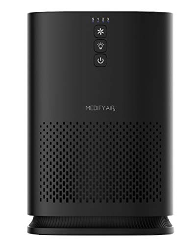 Medify Air MA-14-B1 Air Purifier with H13 HEPA filter - a higher grade of HEPA for 200 Sq. Ft. (99.9%) Allergies, dust… 1 Medical Grade H13 True HEPA Filter (higher rated than True HEPA) 99.97% particle removal CADR of 120 | Cleans up to 470 sq. ft.in an hour. 235 sq. ft. in 30 minutes. 117 sq. ft. in 15 minutes | Perfect for Office, Bedroom, Dorms, Baby Nurseries 3 Fans Speeds | Night Light | Sleep Mode