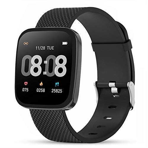 READ Smartwatch, Fitness Tracker Ambanduhr Sport Herren Damen Touch-Farbdisplay Wasserdicht mit Schlafmonitor Herzfrequenzmesser Schrittzähler für Ios Android Huawei Samsung