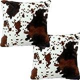 Faux Fur Animal Skin Cowhide Print Decorative...