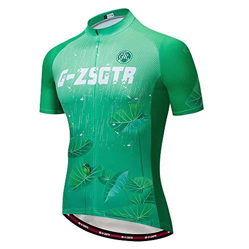 HXTSWGS Conjunto de Maillot de Ciclismo de Verano, Maillot de Ciclismo Deportivo de Carreras de Equipo Transpirable, Ropa de Ciclismo para Hombre Short-D_3XL