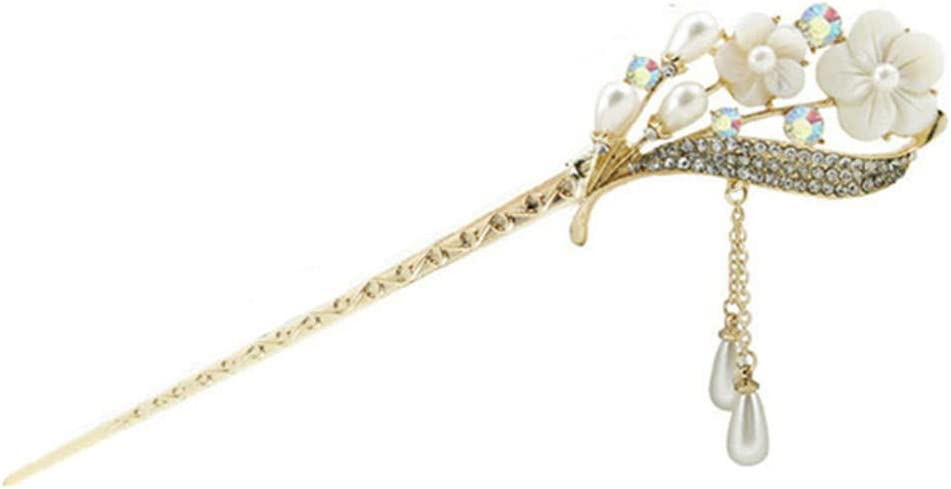 Tampa Mall Toporchid Max 74% OFF Women Vintage Crystal Butterfly Clip Leaf Hair Hairpin