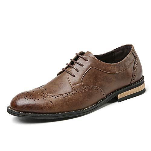 Qianliuk Männer Kleid Wohnungen Lederschuhe Atmungsaktiv Business Schuhe Mode Schnürschuhe Herren Oxfords