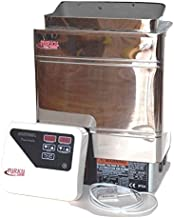 TURKU S/S TU90WD 9KW Residential Stainless Steel Wet & Dry 220V 240V Electric Sauna SPA Heater Stove with Outer Digital Controller for Traditional SAUNAS