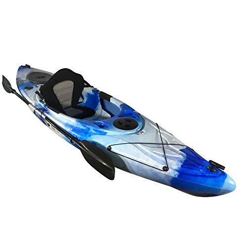Cambridge Kayaks ES, Herring Azul Y Blanco Kayak DE Paseo Y Pesca, RIGIDO,