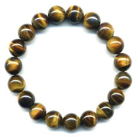 Bracelet Protection Lithothérapie Minéral Oeil de Tigre Mixte Bijoux en Pierre