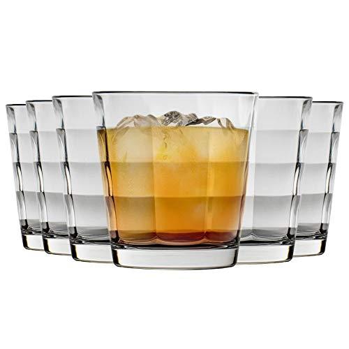 Bormioli Rocco Cube boire de verre clair Gobelets - 240ml - Paquet de 12