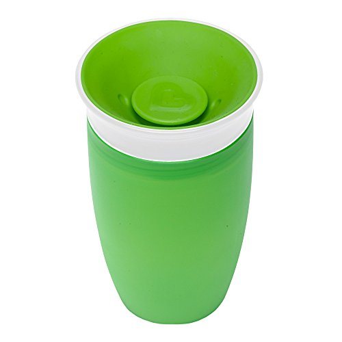 マンチキン(munchkin) べビー用 マグ こぼれない ふた 付き コップ 12カ月から 上手に飲める ミラクルカップ296ml グリーン FDMU10804