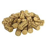 FOSUTOU #8 natural wine corks (SIZE 7/8' x 1 3/4') bag of 50 best for homemade wine and DIY arts.