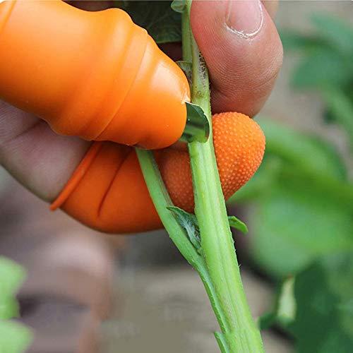 Miya 2Er Pack Garten Silikon Daumenmesser Und Anti-Cut Finger Cot Für Gartenernte, Pflanzen, Gartenarbeit, Obst Und Gemüse