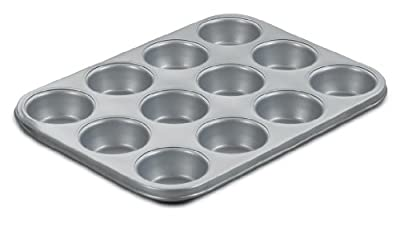 Cuisinart Chef's Classic Nonstick Bakeware 12-Cup Muffin Pan, Silver