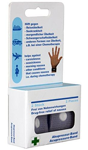 scarlet health | Akupressurband »Sea«, 1 Paar Akupressur-Armbänder gegen Übelkeit & Seekrankheit, für Erwachsene & Kinder, Anti-Übelkeitsband fürs Handgelenk, 2 elastische Bänder (Beige)