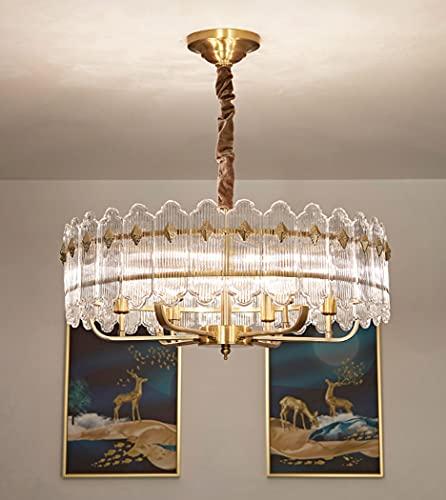 huasa Lámpara Colgante nórdica Moderna Lámpara de Techo de Metal Colgante de luz,LED 45W con Luz Ajustable(3000-6500K),para Comedor/Sala de Estar/Restaurante/Bar/Cafetería,5 Lamp