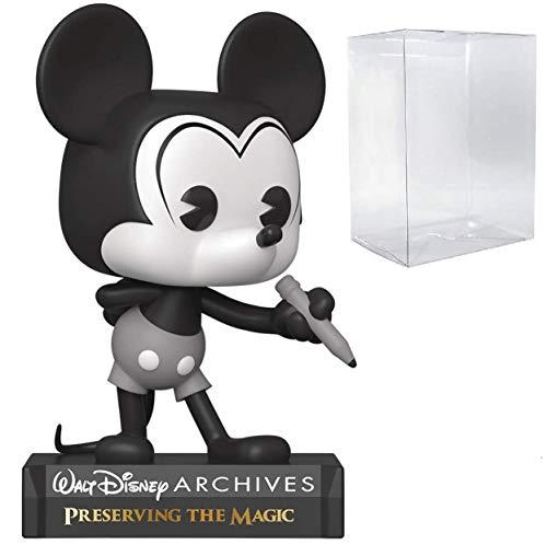 Funko Pop! Disney: Archives - Figura de vinilo con diseño de Mickey Mouse (incluye funda protectora...