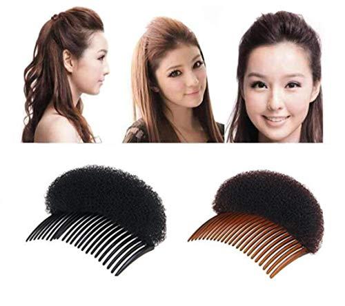 Lot de 2 peignes à cheveux charmants pour femme et fille - Noir et marron