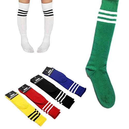 Calcetines de fútbol para Adultos Antideslizantes y elásticos Transpirables Deportes de fútbol Medias de Running Hombres Calcetines Deportivos al Aire Libre - Verde