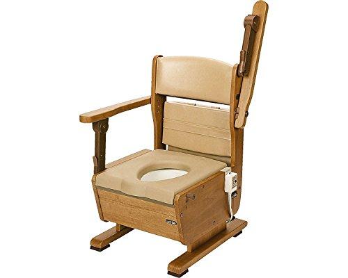 さわやかチェアPT ひじ掛けはね上げタイプ ホット便座 8223 (ウチヱ) (木製トイレ)